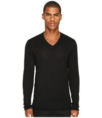 Atm Anthony Thomas Melillo Cashmere V Neck Sweater Black Men's Sweater
