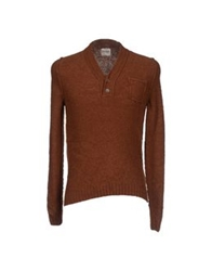 Obvious Basic By Paolo Pecora Sweaters Dark Brown