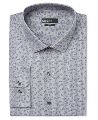 Bar Iii Men's Slim Fit Striped Floral Dress Shirt Only At Macy's Grey