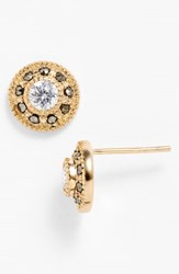 Judith Jack Pave Stud Earrings Gold