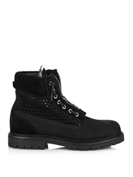 Balmain Tundra Perforated Suede Boots