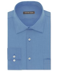 Geoffrey Beene Men's Fitted Wrinkle Free Bedford Cord Dress Shirt Cameo Blue