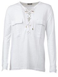 Balmain V Neck Top White