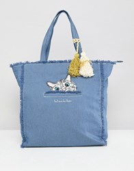 Paul And Joe Sister Denim Cat Shopper Blue