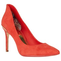 Ted Baker Saviy Pointed Toe Court Shoes Red Suede