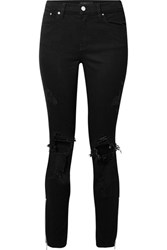 Amiri Thrasher Distressed High Rise Skinny Jeans Black Usd