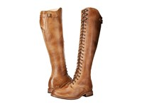 Bed Stu Della Tan Rustic Leather Women's Lace Up Boots Brown