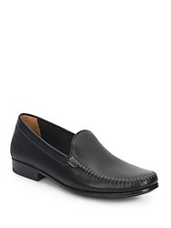 Johnston And Murphy Shurden Leather Loafers Black