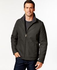 London Fog Big And Tall Oxford Hipster Jacket Loden