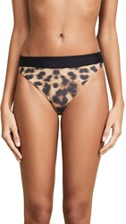 Pilyq High Waist Bikini Bottoms Cheetah
