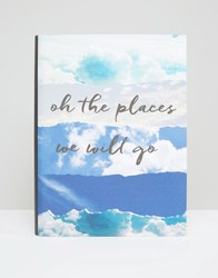 Paperchase Oh The Places We Will Go A5 Notebook Multi