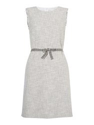 Oui Textured Shift Dress Off White