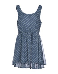 Scout Short Dresses Slate Blue