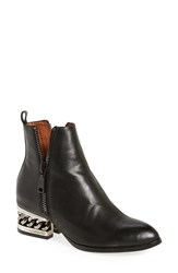 Jeffrey Campbell Women's 'Boone' Zipper Bootie Black Pewter Leather