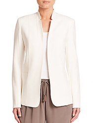 Elie Tahari Long Sleeve Open Front Jacket Winter White
