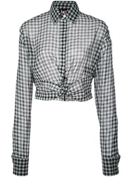 Haculla Plaid Blouse White