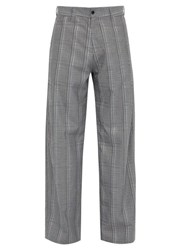 Hope Wind Checked High Rise Trousers Grey Multi