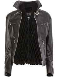Comme Des Garcons Diamond Concertina Jacket Black