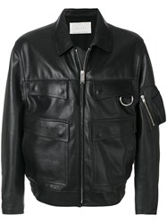 Alyx Flap Pocket Zip Jacket Cotton Calf Leather Viscose M Black