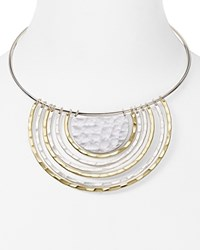 Robert Lee Morris Soho U Pendant Necklace Two Tone