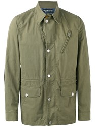 Jacob Cohen Shirt Jacket Men Cotton Polyamide Polyester 54 Green