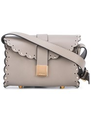 Furla Escalloped Edges Crossbody Bag Grey