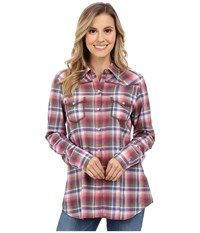 Stetson Orchid Plaid Long Sleeve Western Shirt Purple Women's Clothing