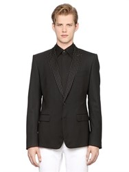 Dolce And Gabbana Martini Jacquard And Stretch Wool Jacket