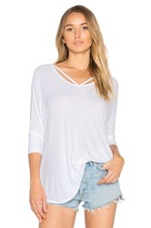 Michael Lauren Landry Cut Out Tee White