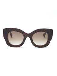 Fendi X Thierry Lasry Abstract Print Sunglasses