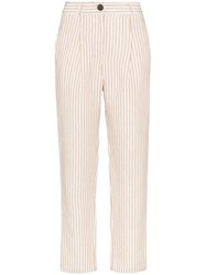 Mara Hoffman Dita Striped Trousers Neutrals