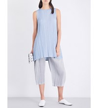 Issey Miyake Pleats Please Pastel Pleated Dress Blue