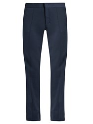 Aeance Wool Blend Trousers Navy