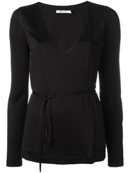 Alexander Wang Wrap Top Black