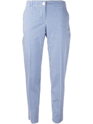 Armani Jeans Printed Slim Fit Cropped Trousers