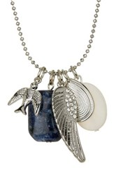 Stephan And Co Assorted Charm And Lapis Lazuli Necklace Blue