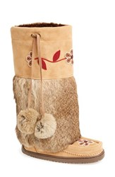 Women's Manitobah Mukluks 'Metis' Genuine Rabbit Fur Mukluk