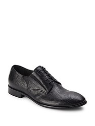 Jo Ghost Textured Leather Derby Shoes Black