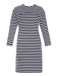 Muveil Striped Cotton Knit Dress