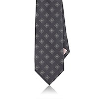 Fairfax Men's Square Pattern Silk Necktie Grey