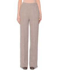 Agnona Lightweight Jersey Trousers Taupe