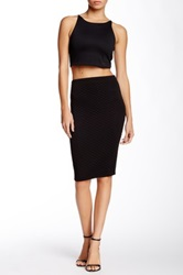Donna Mizani Quilted Midi Skirt Black
