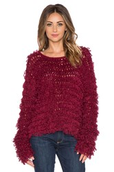 For Love And Lemons Joplin Pullover Burgundy