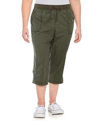 Lord And Taylor Plus Drawstring Capris Thyme