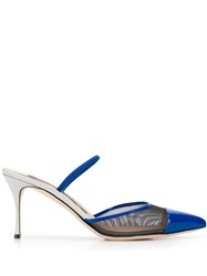 Sergio Rossi 85Mm Pointed Mesh Panelled Pumps 60