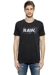 G Star Raw Print Organic Cotton Jersey T Shirt