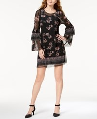 Style And Co Printed Tiered Sleeve Dress Created For Macy's Garden Falls