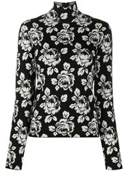 Balenciaga Intarsia Rose Turtle Neck Jumper 60