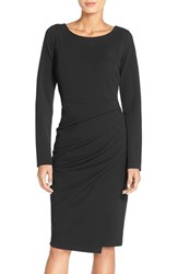 Women's Nydj 'Josette' Stretch Crepe Sheath Dress Black