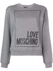Love Moschino Loose Fit Logo Sweatshirt Grey